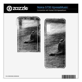 Laundry on the line by Georges Seurat Nokia 5730 Skin