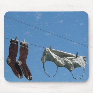 Laundry on the Line Mouse Pad