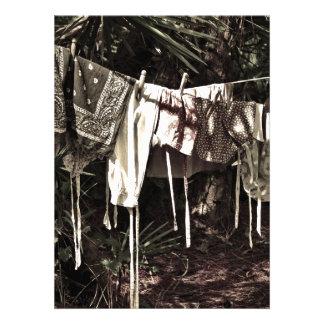 Laundry on the Line Vintage Clothes Announcements