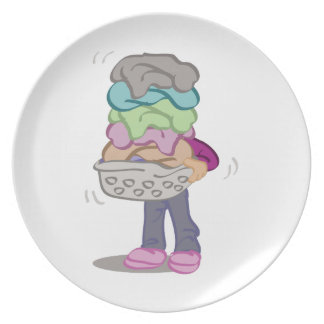 Laundry Pile Plates