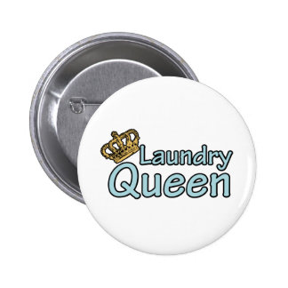Laundry Queen with Crown Pinback Buttons