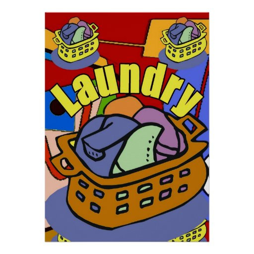 Laundry Room Basket Poster