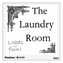 Laundry Room Sign Wall Decal