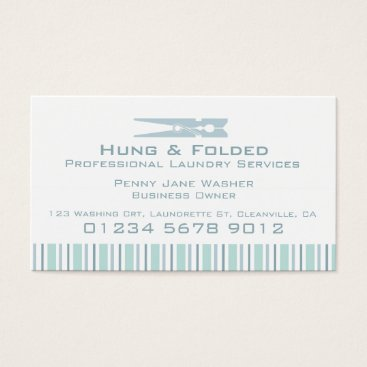 Professional Business Laundry service mint swing tag / business card