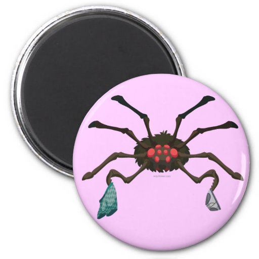 Laundry Spider Refrigerator Magnets