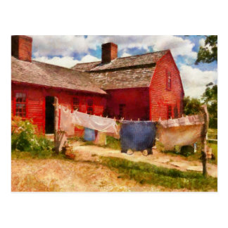 Laundry - The Clothes Line Post Card