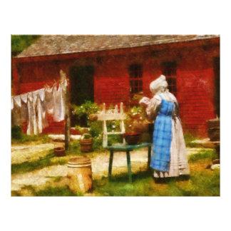 Laundry - Washing Clothes Custom Letterhead