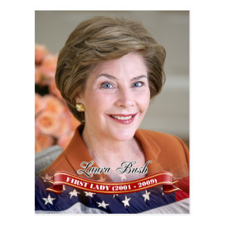 Laura Bush, primera señora de los E.E.U.U. Postales