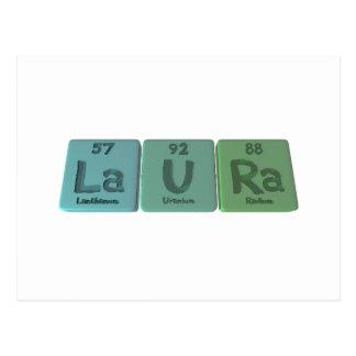 Laura como radio del uranio del lantano tarjeta postal
