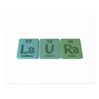 Laura-La-U-Ra-Lanthanum-Uranium-Radium.png Tarjeta Postal