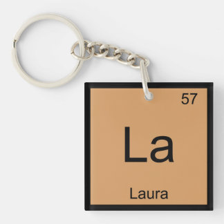 Laura  Name Chemistry Element Periodic Table Keychain
