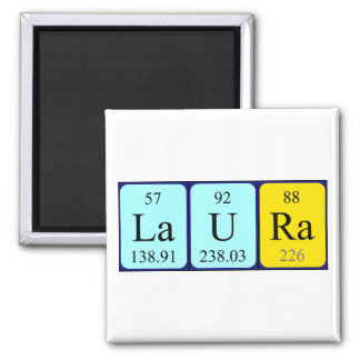 Laura periodic table name magnet