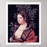 Laura (retrato de una mujer joven) por Giorgione Póster