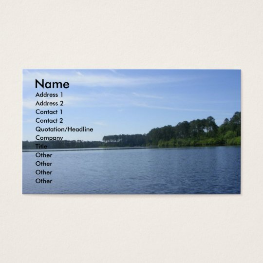 """""""LAURA S. WALKER STATE PARK"""" BUSINESS CARD"""