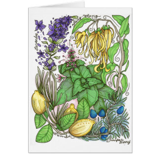 Lauranell Botanical Mix Greeting Card w/Envelope