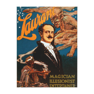 Laurant Magician, Illusionist, Entertainer Magic Gallery Wrapped Canvas