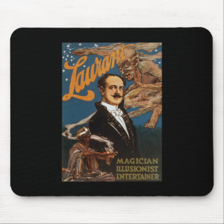 Laurant magician illusionist entertainer mouse pad