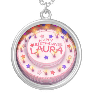 Laura's Birthday Cake Silver Plated Necklace