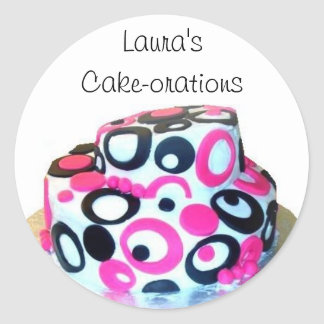 Laura's Cake-orations Classic Round Sticker