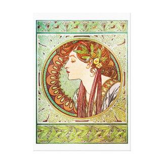 Laurel - Alphonse Mucha Canvas Print