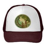 Laurel, Alphonse Mucha Vintage Art Nouveau Trucker Hats