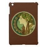 Laurel, Alphonse Mucha Vintage Art Nouveau iPad Mini Cover