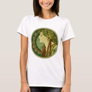 Laurel, Alphonse Mucha Vintage Art Nouveau T-Shirt