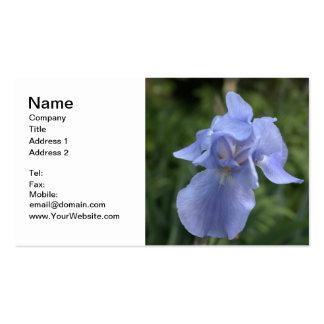 Laurel azul bilateral del iris y de montaña tarjetas de visita