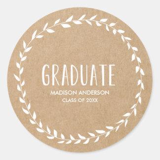 Laurel Border   Graduation Sticker