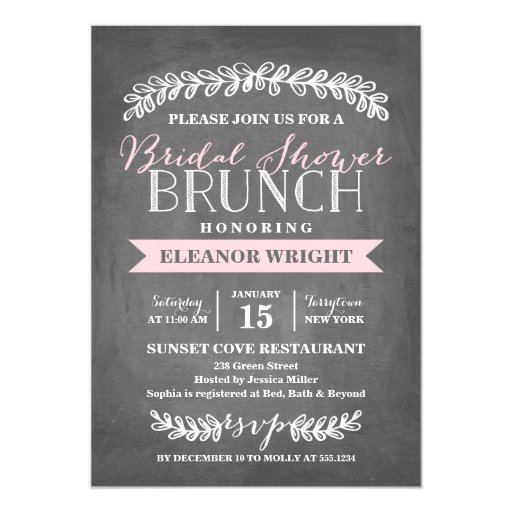 Laurel Brunch Bridal Shower Invitation