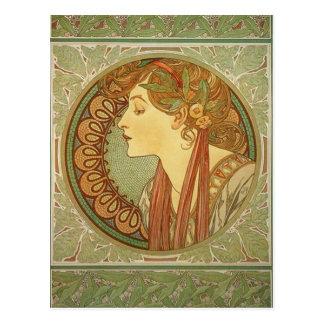 Laurel by Alphonse Mucha Post Card