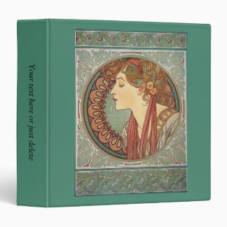 Laurel by artist Alphonse Mucha art nouveau custom Binder