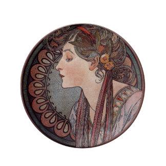 Laurel by artist Alphonse Mucha art nouveau Plate
