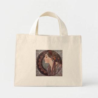Laurel by artist Alphonse Mucha art nouveau tote