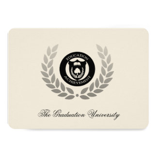 Laurel Crest Traditional College Graduation Card