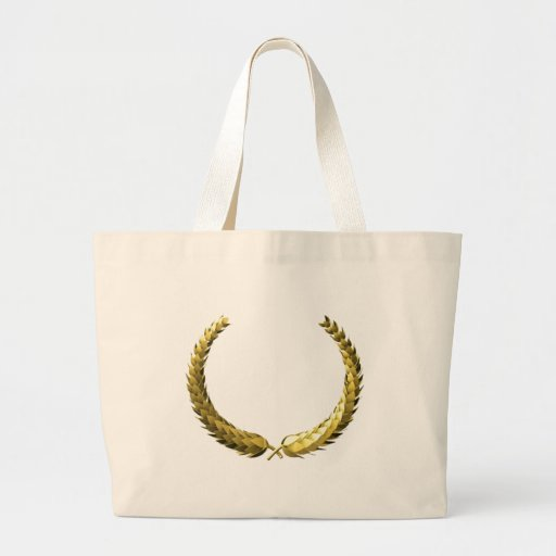 Laurel del oro bolsa tela grande