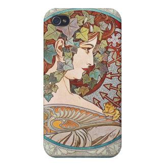 Laurel, ejemplo de Nouveau del arte de Alfonso Muc iPhone 4 Cobertura