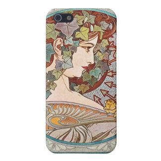 Laurel, ejemplo de Nouveau del arte de Alfonso Muc iPhone 5 Cobertura