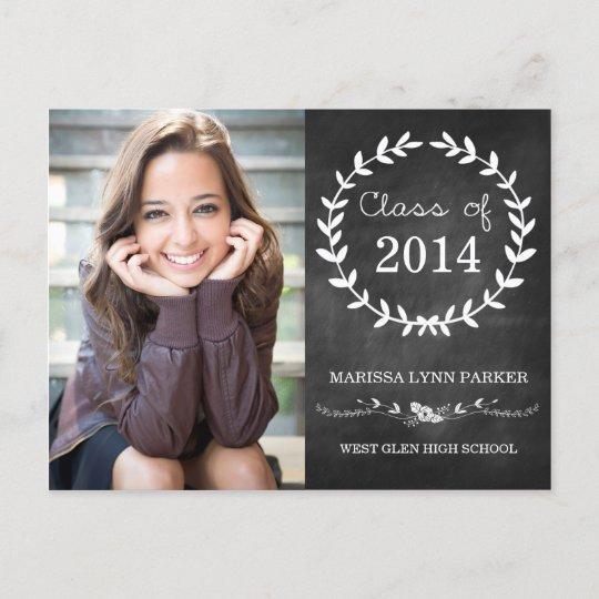 Laurel Graduation Party Invitation Postcard