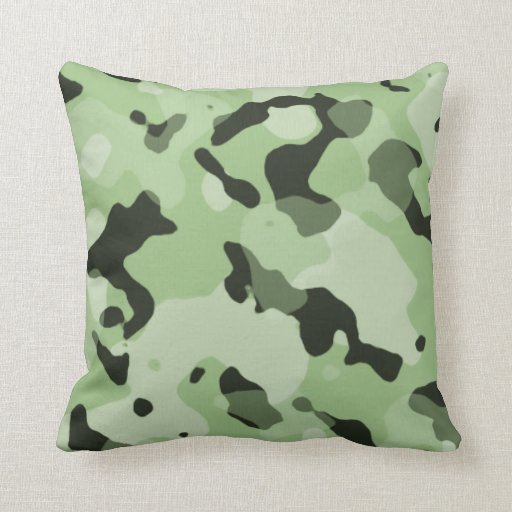 Camo Couch Throw Pillows : Laurel Green Camo; Camouflage Pillow Zazzle