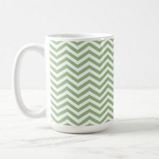 Laurel Green Chevron Stripes Coffee Mug