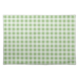 Laurel Green Gingham; Checkered Cloth Placemat