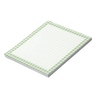 Laurel Green Gingham; Checkered Note Pad
