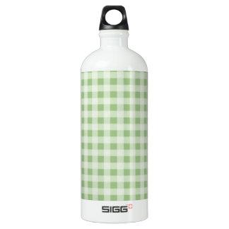 Laurel Green Gingham; Checkered Water Bottle