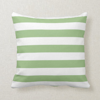 Laurel Green Horizontal Stripes Pillows