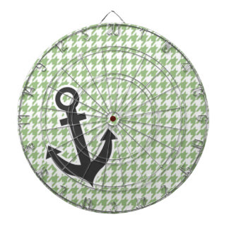 Laurel Green Houndstooth; Nautical Anchor Dart Board