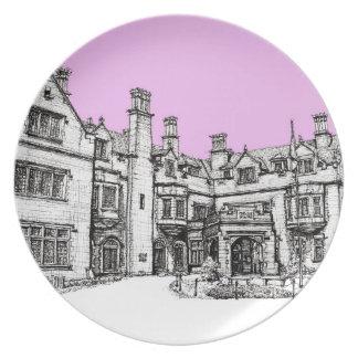 Laurel Hall building in pink Melamine Plate