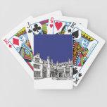 Laurel Hall wedding venue blue Bicycle Card Decks