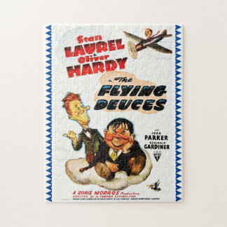 "Laurel & Hardy ""Flying Deuces"" Advertising Poster Jigsaw Puzzle"