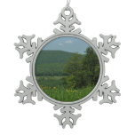 Laurel Highlands Pennsylvania Summer Photography Snowflake Pewter Christmas Ornament